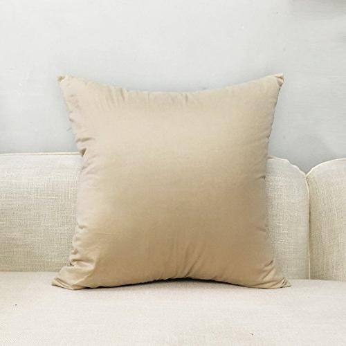 Solid Throw Pillow Case Cushion Cover Pillowcase 17 x 17 Inches