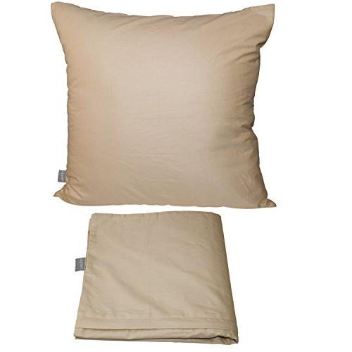 4-Pack Solid Decorative Pillow Case Square Cushion Pillowcase 17 Inches