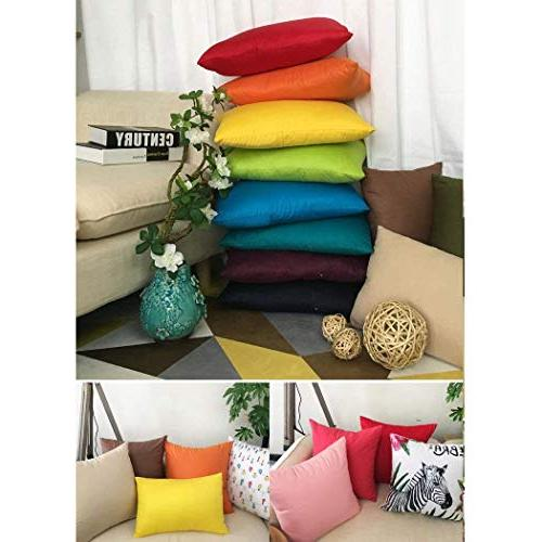 4-Pack Cotton Comfortable Solid Pillow Case Pillowcase 17 x Inches