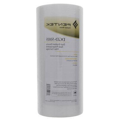 Pentek DGD-5005 Dual Gradient Sediment Filter - 50 / 5 Micro