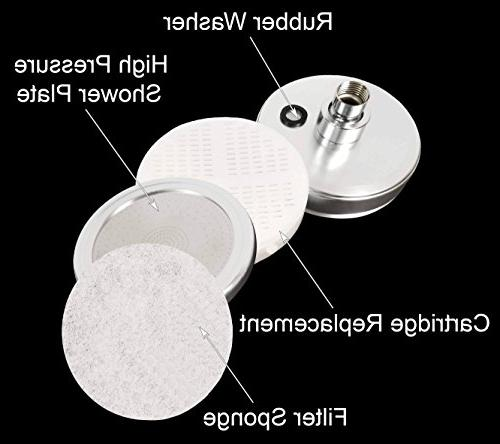 Shower Hard Removes Flouride - Filter - 2 Replaceable - Water Filtered Showers - Shower