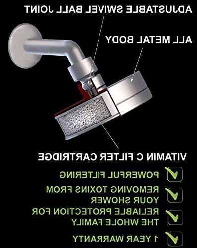 Shower - Removes Chlorine & - Showerhead - 2 Replaceable Filter - Water Filtered Shower