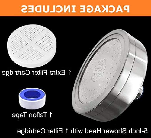 Shower - Hard Removes & - Showerhead 2 Replaceable Filter - For Filtered Shower