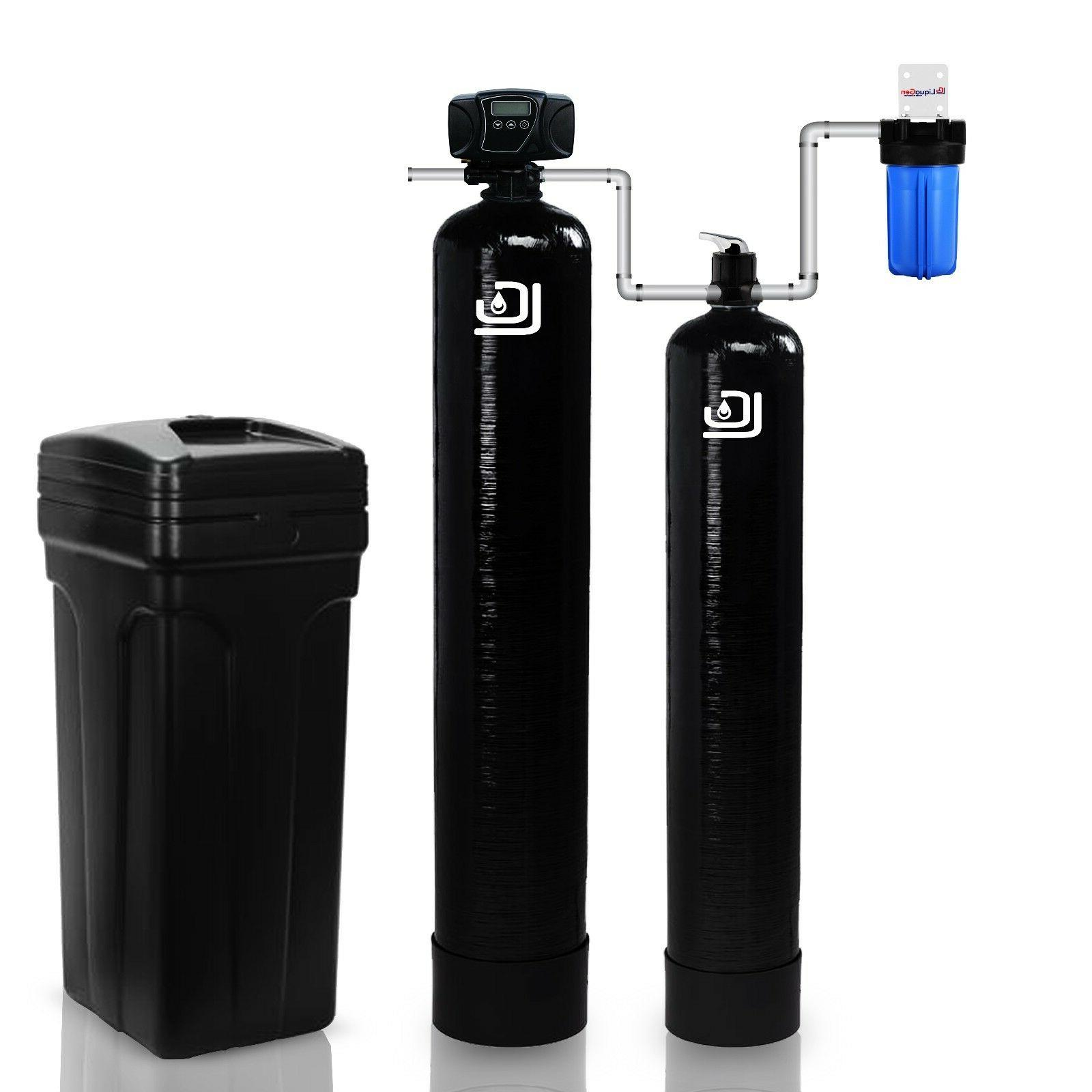 fleck controlled whole house water softener system