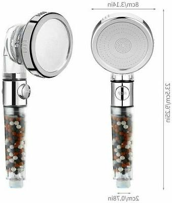 High Pressure Held Shower Head with Filter Softener