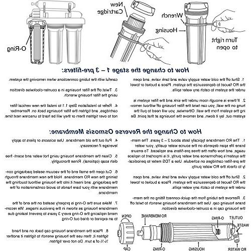 iSpring 5-Stage Reverse Osmosis 2-Year Filter Pack Fits RCC7 RCC7P Piece