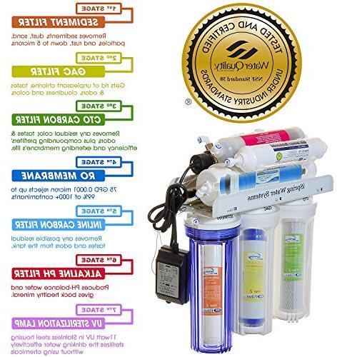 iSpring RCC7AK-UV Deluxe Under with UV Sterilizer-WQA