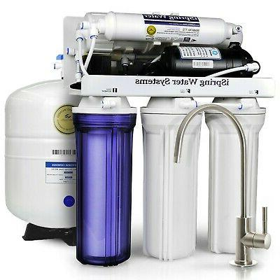 iSpring Performance-boosted Sink Drinking Water Filtration with Pump Ultimate Water