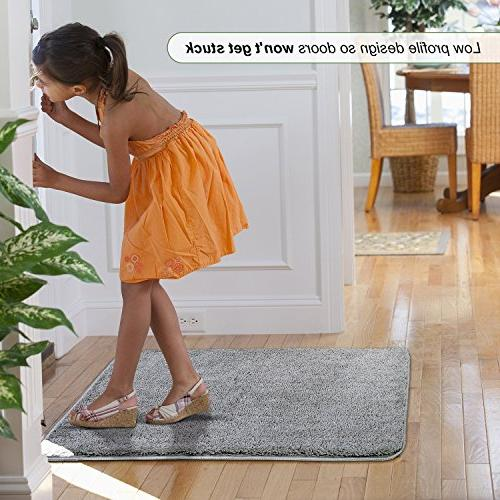 "Refetone Indoor Doormat Absorbs Absorbent Backing Non Door Mat Entry, Room, Back Traffic Areas 31.5"" Machine"