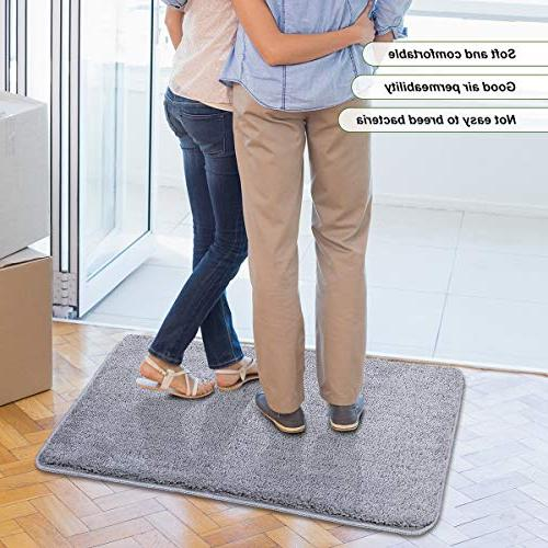 "Refetone Doormat Super Absorbs Mud Absorbent Rubber Backing Non Mat Entry, Room, Traffic 20""x Machine Washable"