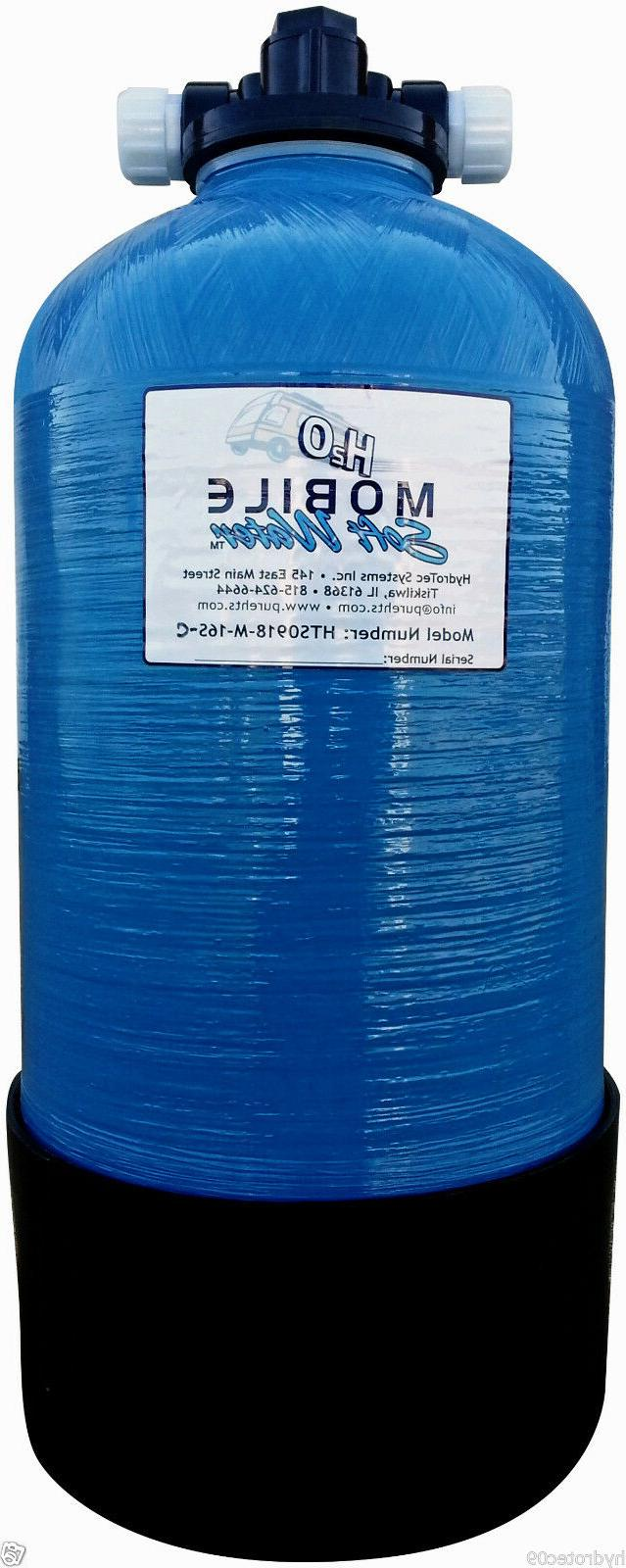 Mobile Soft Water 16000gr Portable Manual Softener,W/salt po