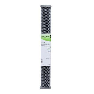 Pentek NCP-20 20 inch 2 1/2 inch Carbon-Impregnated Pleated