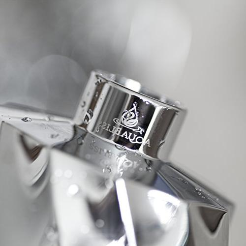 AquaBliss SF300 Output Multi-Stage Shower Head - Universal Filter Reduces Skin, Dandruff, Glowing Stronger Skin Chrome