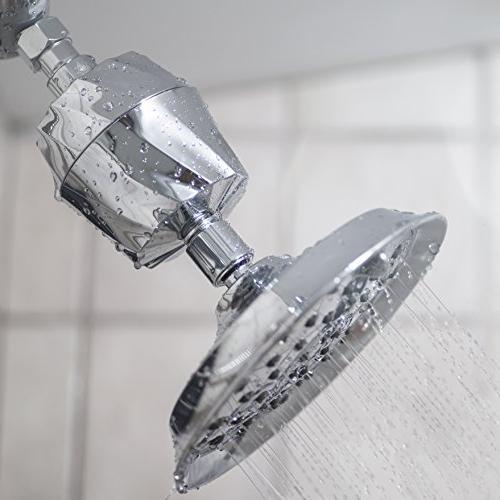 AquaBliss SF300 - Universal Shower Filter Reduces Skin, Dandruff, Eczema for Glowing Skin Nails – Chrome