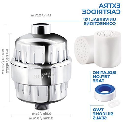 Limited - 10-Stage Shower Filter Shower Head Filter Chlorine Filter - Hard Filter - Water 2 Cartridges Shower