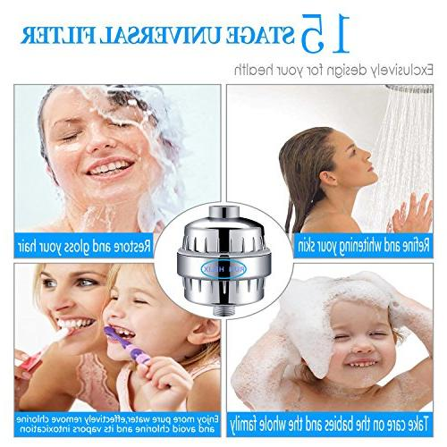 Shower Filter Water Replaceable Cartridge Universal Vitamin C Water Purifier Softener Remove Chlorine, Fluoride