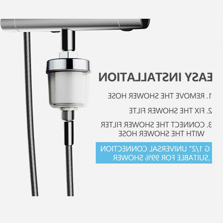 shower head filter water softener chlorine remover