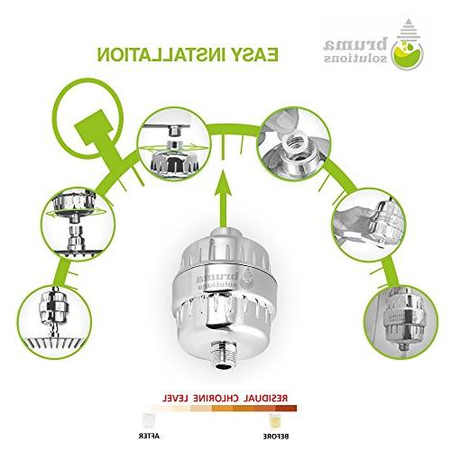 Shower Water - Multi-Stage | Universal mount | Chlorine, Iron, Metals, | Hard Water | for Itchy Skin,Eczema,Dandruff
