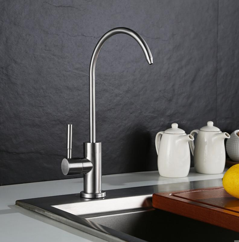 SUS304 Stainless Steel Lead-free Drinking Water Filter Tap F