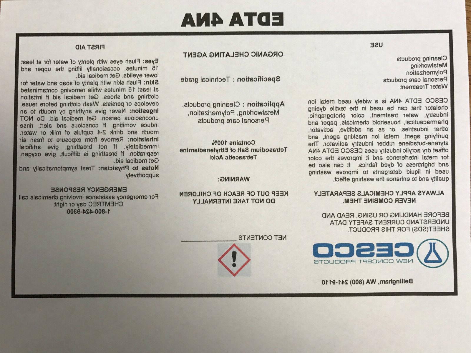 Tetrasodium 4NA lb agent Sequester powder
