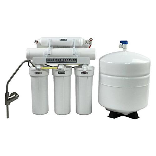 ABCwaters Combo Grain Softener w/UPGRADED Upflow Tank 5 Stage Drinking 75 gpd