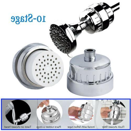 Shower Head Filter Water Softener for Hard Water Chlorine Pu