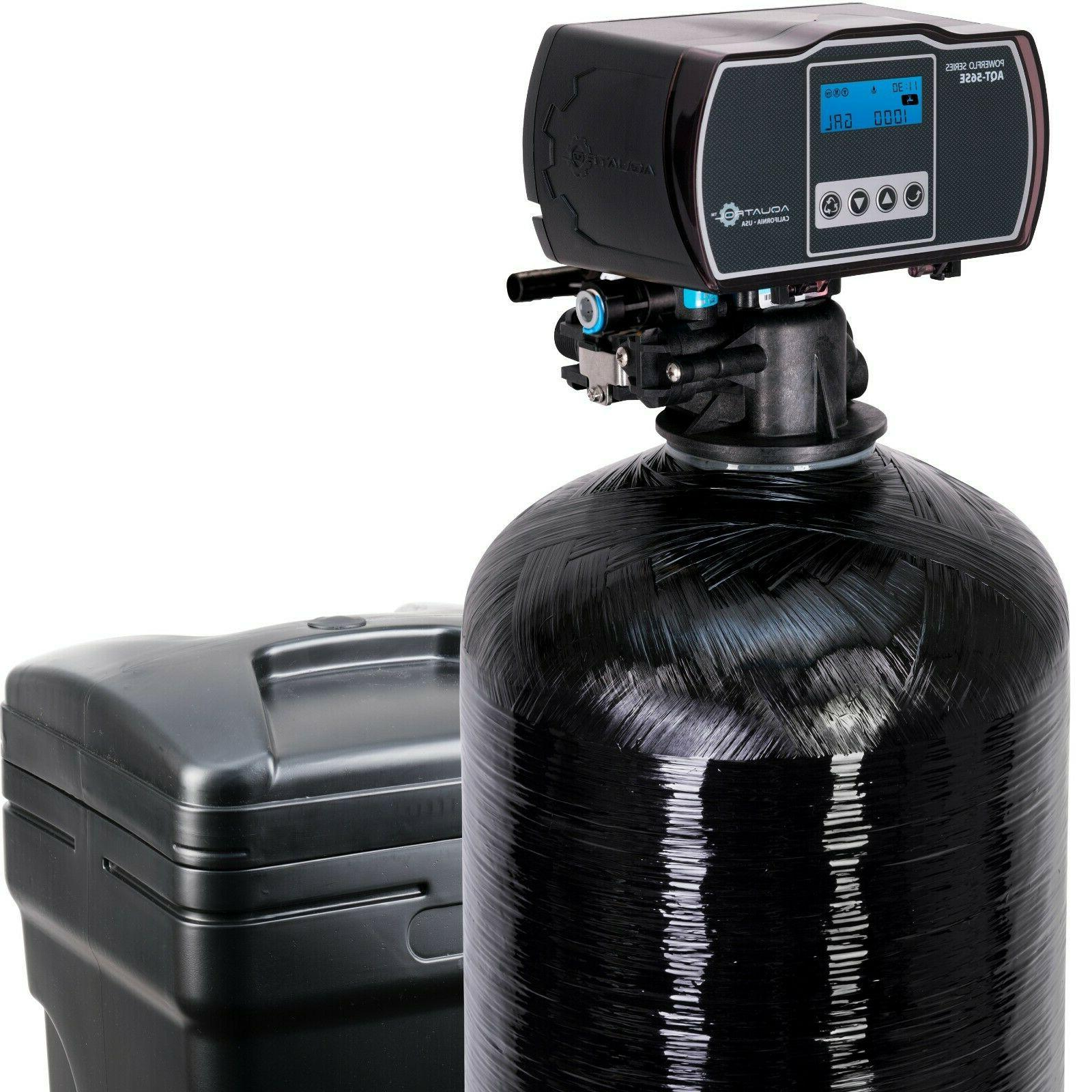 water softener with fine mesh resin