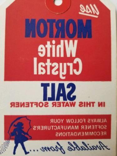 Morton water cardboard vintage advertising