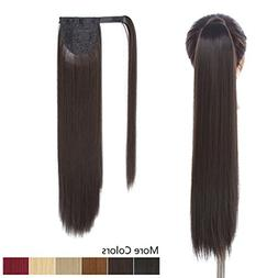 "26"" Long Ponytail Hair Extension Dark Brown One Piece Hairpi"