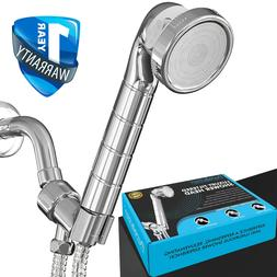 luxury filtered shower head hard water softener