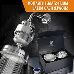 luxury filtered shower head set