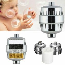 Metal InLine Shower Filter Softener Chlorine Heavy Removal W