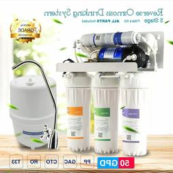 MS® Electrical Reverse Osmosis Water Filter System 50GPD Co