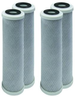 """Pack of 4 Fits American Plumber W5W 10"""" Carbon Compatible Fi"""