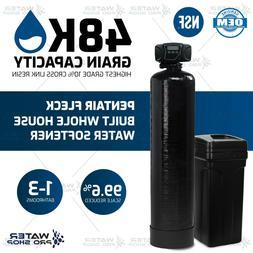 Pentair Fleck Built Whole House Water Softener, 1-3 Bathroom