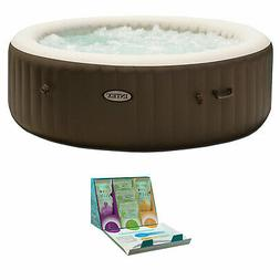 Intex PureSpa 6 Person Inflatable Hot Tub + SpaGuard 3 Month