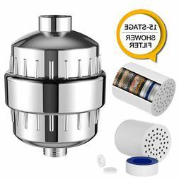 Shower Head Filter Cartridge Kit 15 Stage Chlorine Hard Wate