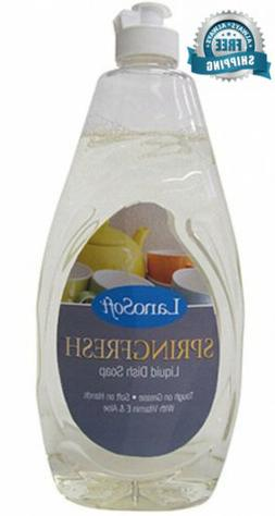 SpringFresh Liquid Dish Soap by LanoSoft, 24-Ounce