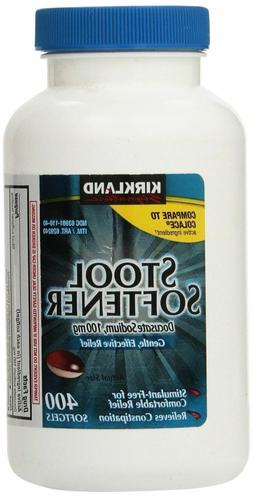 Kirkland Signature Stool Softener Docusate Sodium 100mg Reli