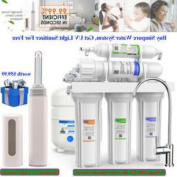 Under Sink 5-Stage Reverse Osmosis Filter System Water Softe