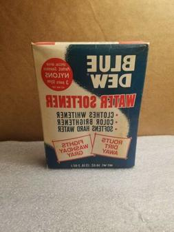 Vintage Blue Dew water softener wash NOS in box, Very Cool m