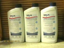 REDUCED!!!!  ECOPURE WATER SOFTENER CLEANER, 3  x 16 FL. OZ.