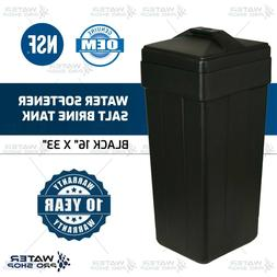 Water Softener Salt brine Tank With Safety Float, Black 16""