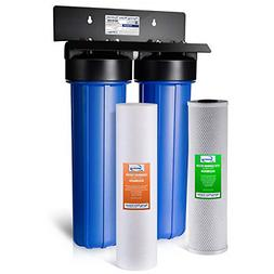iSpring WGB22B 2-Stage Whole House Water Filtration System w