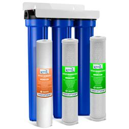 iSpring Whole House 3-Stage Water Filter System with Oversiz