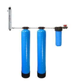 Tier1 Whole House Carbon and KDF Water Filter System with UV