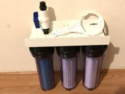 WHOLE HOUSE HARD WATER SOFTENER 3 STAGE CLEAR SYSTEM, 3/4 in
