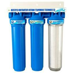 EZ-Connect Compact Water Filter / Softener Combo - Blue