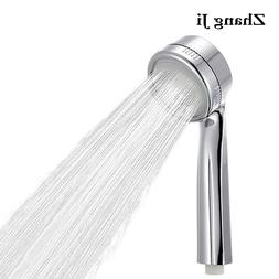 ZhangJi Bathroom SPA Shower Head 300% Super Pressure With Ch